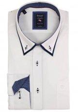 elegantes Doppel-Kragenhemd Langarm von Armas in Weiß