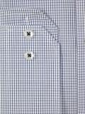 Jupiter Langarmhemd 2253 Popeline blaues Karo bügelfrei