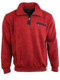 Sweatshirt von Monte Carlo 6905 mit Troyer-Kragen uni in verschiedenen Farben