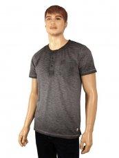 Rundhals-T-Shirt von Paddocks grau Washer-Look