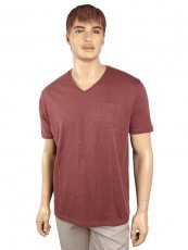 Marcello Marabotti V-Neck-T-Shirt old rosé